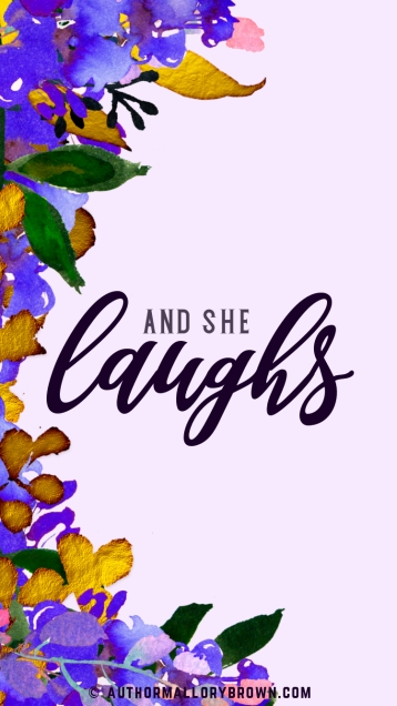 and she laughs